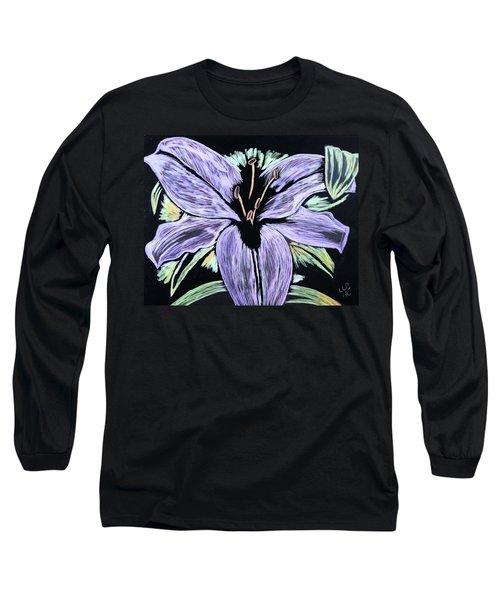 Electric Lily Phase Two Long Sleeve T-Shirt by Lisa Brandel
