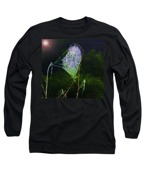 Electric Web In The Fog Long Sleeve T-Shirt by EricaMaxine  Price