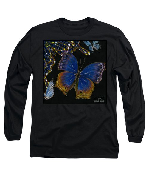 Elena Yakubovich - Butterfly 2x2 Lower Right Corner Long Sleeve T-Shirt