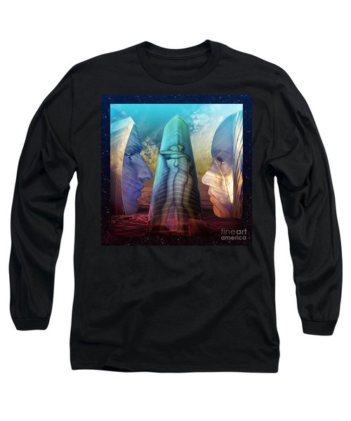 Embrace Tower Long Sleeve T-Shirt by Rosa Cobos