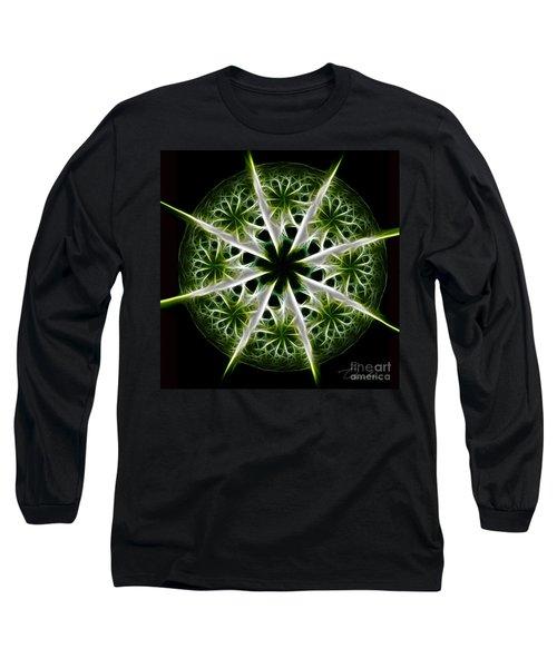 Emerald Tales Long Sleeve T-Shirt by Danuta Bennett