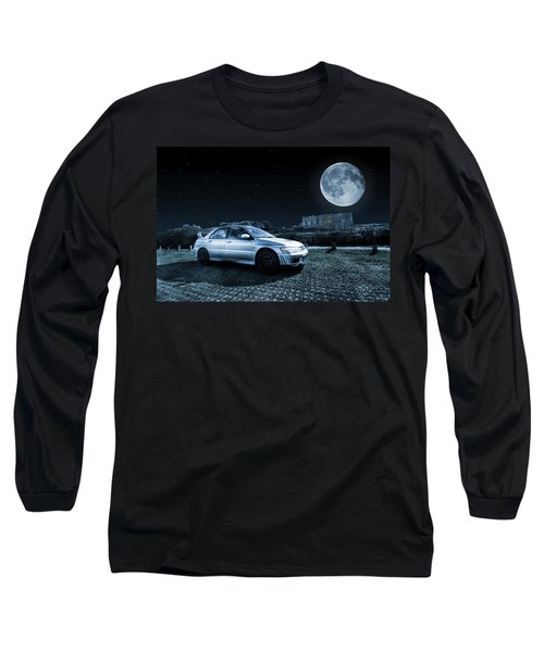 Long Sleeve T-Shirt featuring the photograph Evo 7 At Night by Steve Purnell