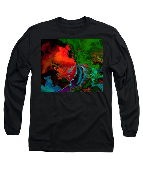 Faa Abstract 3 Invasion Of The Reds Long Sleeve T-Shirt by Claude McCoy