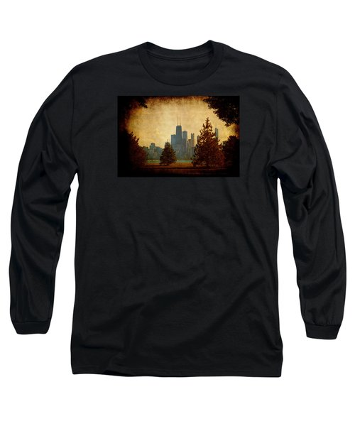Long Sleeve T-Shirt featuring the photograph Fall In The City by Milena Ilieva
