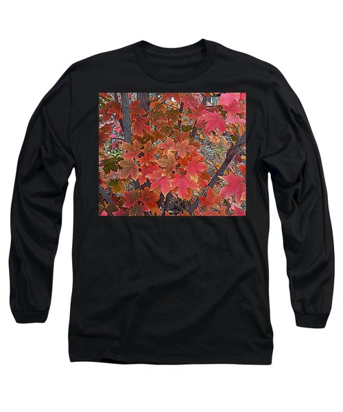 Fall Red Long Sleeve T-Shirt