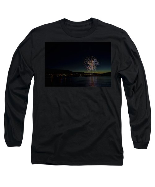 Fireworks On The River Long Sleeve T-Shirt