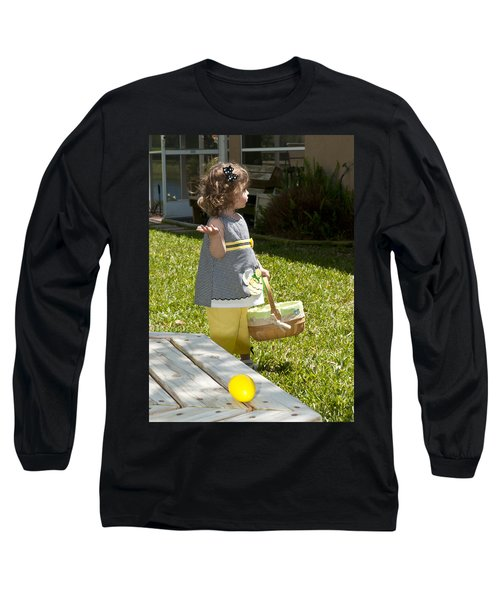 Long Sleeve T-Shirt featuring the photograph First Easter Egg Hunt by Steven Sparks
