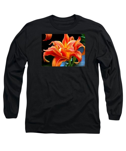 Flaming Flower Long Sleeve T-Shirt
