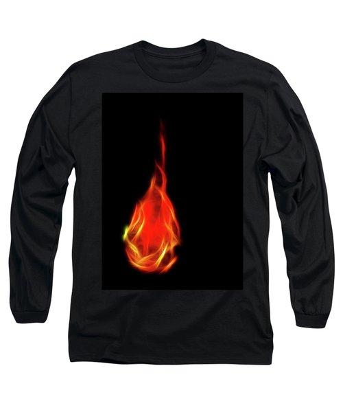 Flaming Tear Long Sleeve T-Shirt