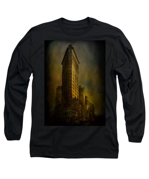 Flatiron Building...my View..revised Long Sleeve T-Shirt by Jeff Burgess