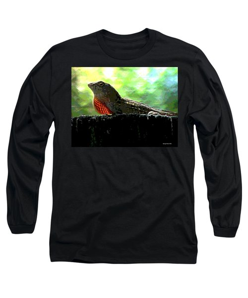Long Sleeve T-Shirt featuring the photograph Florida Dinosaur by George Pedro