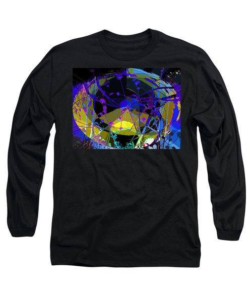 Flower Abstract Long Sleeve T-Shirt by Anne Mott