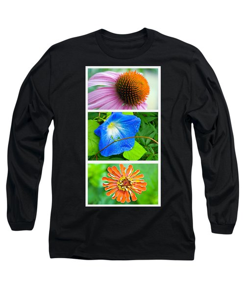Flower Collage Part Two Long Sleeve T-Shirt