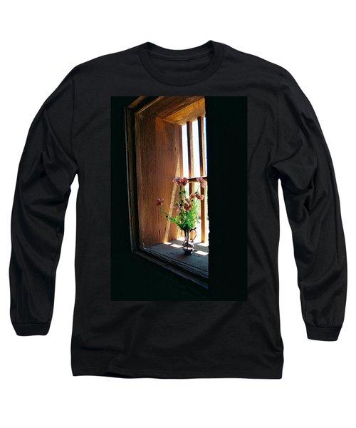 Flower In Window Long Sleeve T-Shirt