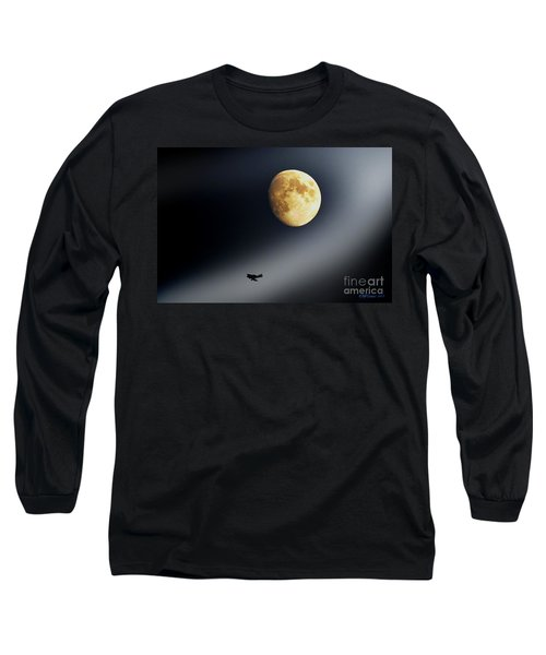 Fly Me To The Moon Long Sleeve T-Shirt by Kevin J McGraw