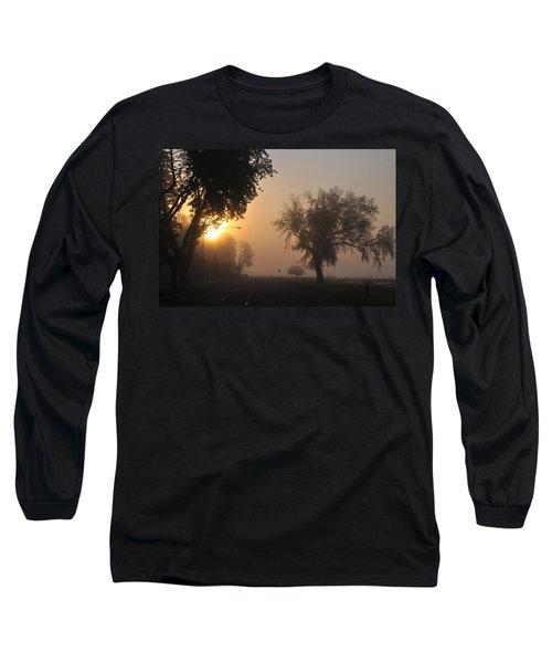 Foggy Morn Street Long Sleeve T-Shirt