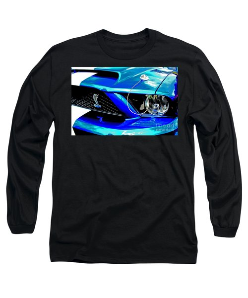 Long Sleeve T-Shirt featuring the digital art Ford Mustang Cobra by Tony Cooper