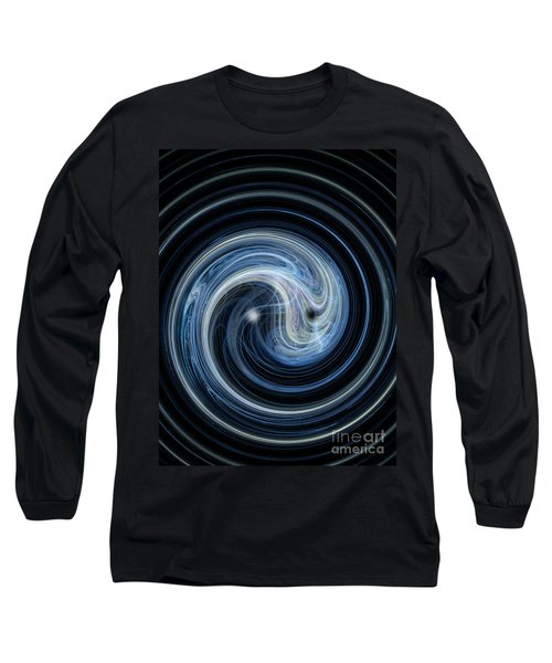 Fractal Yin And Yang Long Sleeve T-Shirt