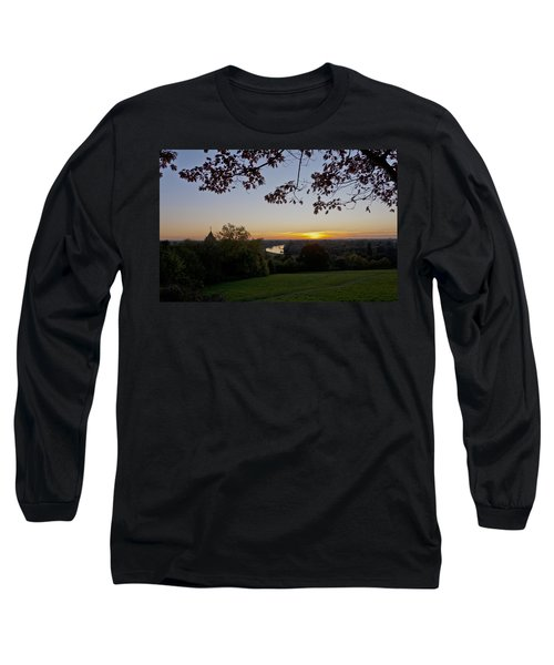 Long Sleeve T-Shirt featuring the photograph Framed Sunset by Maj Seda
