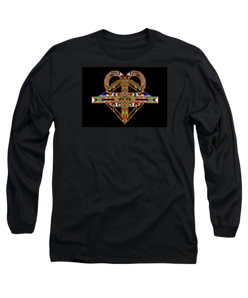 Long Sleeve T-Shirt featuring the photograph Geometry Mask by Steve Purnell