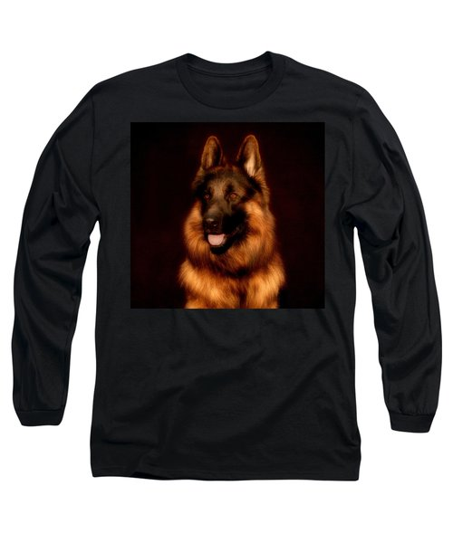 German Shepherd Portrait Long Sleeve T-Shirt