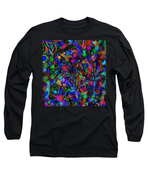 Long Sleeve T-Shirt featuring the mixed media Get Busy by Kevin Caudill