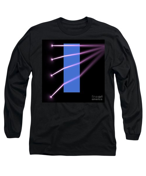 Long Sleeve T-Shirt featuring the digital art Glass Block 2 by Russell Kightley