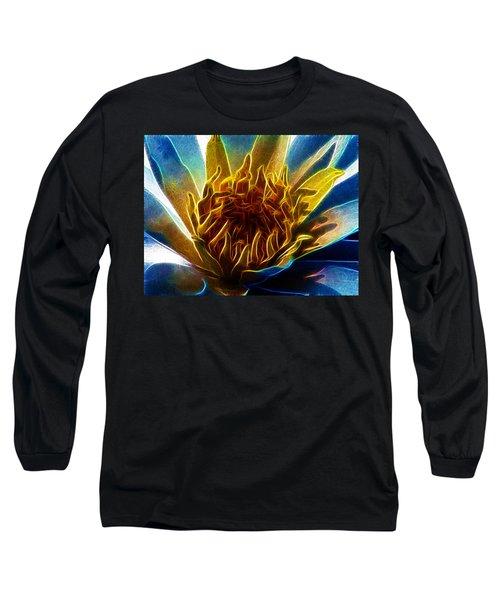 Glowing Lotus Long Sleeve T-Shirt