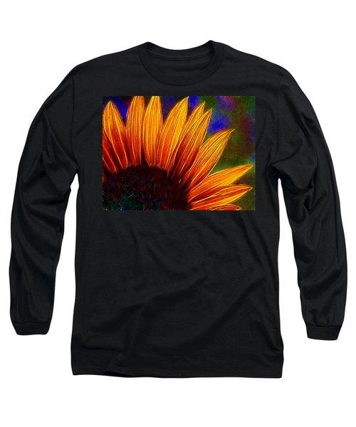 Glowing Sunflower Long Sleeve T-Shirt