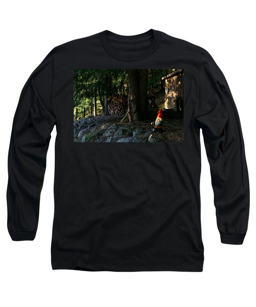 Gnome And The Woodpile Long Sleeve T-Shirt