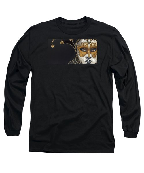 Gold Carnival Mask Long Sleeve T-Shirt