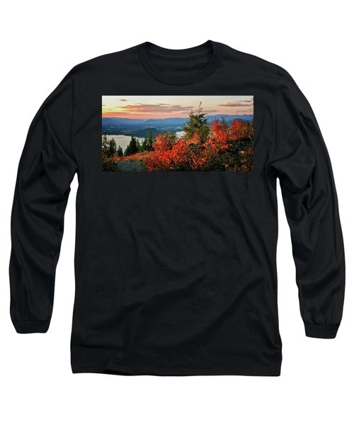 Long Sleeve T-Shirt featuring the photograph Gold Hill Sunset by Albert Seger