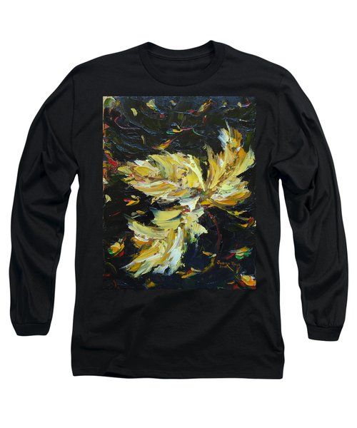 Long Sleeve T-Shirt featuring the painting Golden Flight by Judith Rhue