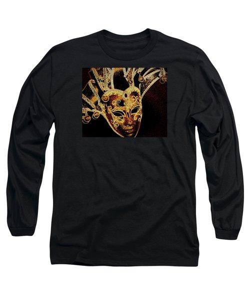 Golden Mask Long Sleeve T-Shirt by Lori Seaman