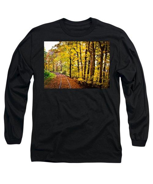 Golden Rails Long Sleeve T-Shirt by Sara Frank