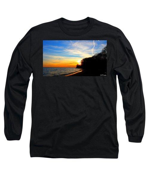 Long Sleeve T-Shirt featuring the photograph Golden Sunset by Davandra Cribbie
