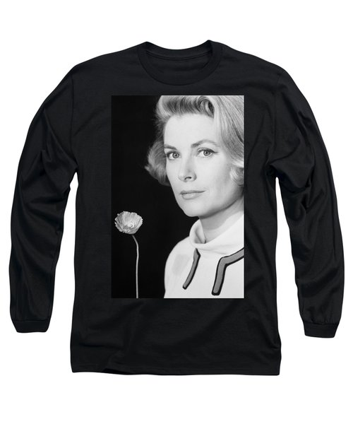 Grace Kelly (1928-1982) Long Sleeve T-Shirt by Granger