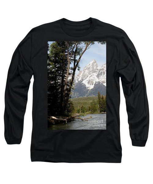 Grand Tetons Vertical Long Sleeve T-Shirt by Living Color Photography Lorraine Lynch