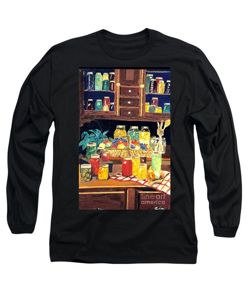 Long Sleeve T-Shirt featuring the painting Granny's Cupboard by Julie Brugh Riffey