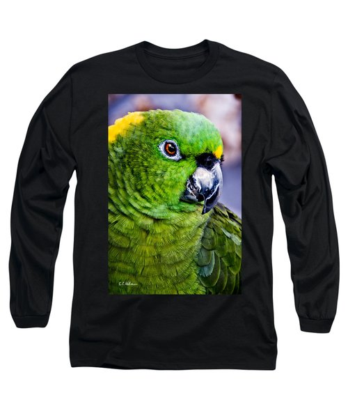 Green Parrot Long Sleeve T-Shirt
