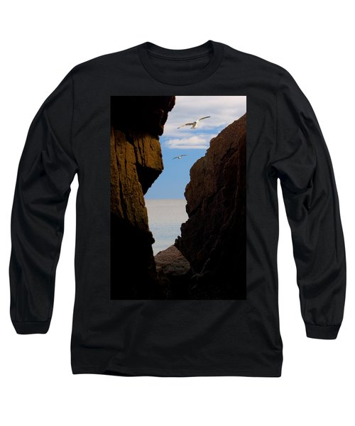 Gulls Of Acadia Long Sleeve T-Shirt by Brent L Ander