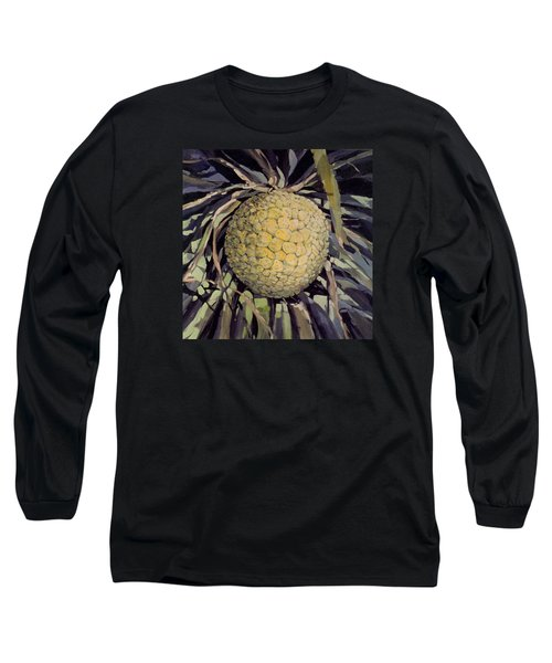 Long Sleeve T-Shirt featuring the painting Hala Fruit by Andrew Drozdowicz