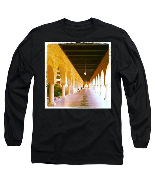 Halls Of Learning - Stanford University Long Sleeve T-Shirt by Anna Porter