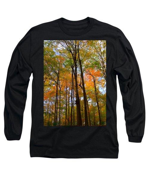 Happy Orange Long Sleeve T-Shirt