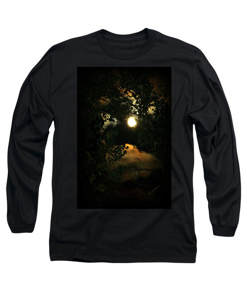 Long Sleeve T-Shirt featuring the photograph Haunting Moon by Jeanette C Landstrom