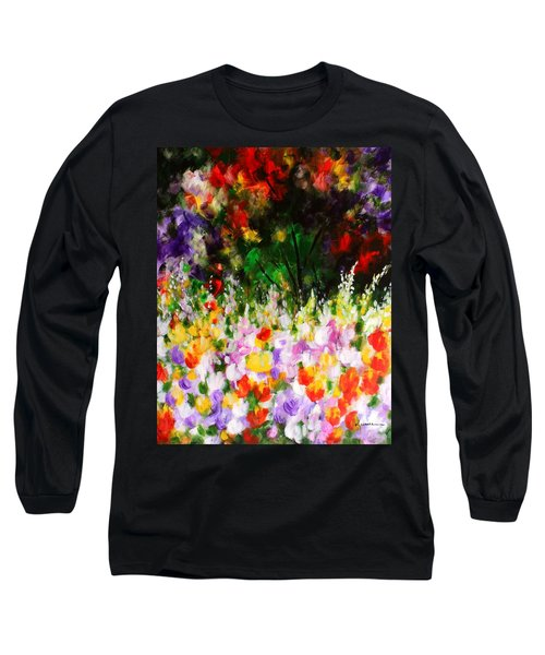 Heavenly Garden Long Sleeve T-Shirt by Kume Bryant