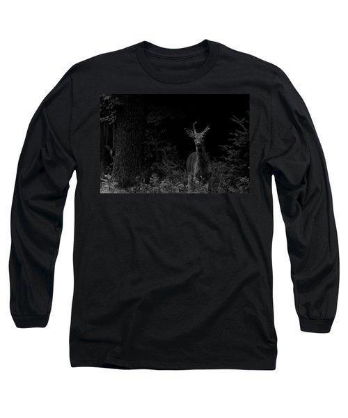 Hello Deer Long Sleeve T-Shirt by Cheryl Baxter