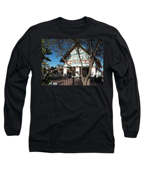 Hemet Museum-old Santa Fe Depot Long Sleeve T-Shirt
