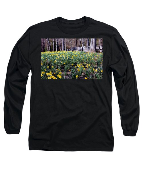 Hills Of Daffodils Long Sleeve T-Shirt