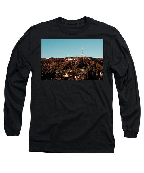Hollywood Sign At Sunset Long Sleeve T-Shirt